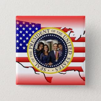 Bóton Quadrado 5.08cm Presidente Barack Obama de 2012 E.U.