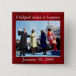 Bóton Quadrado 5.08cm Presidente Barack Obama e primeira senhora