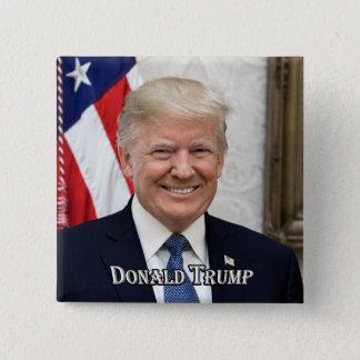 Bóton Quadrado 5.08cm Presidente Donald Trump