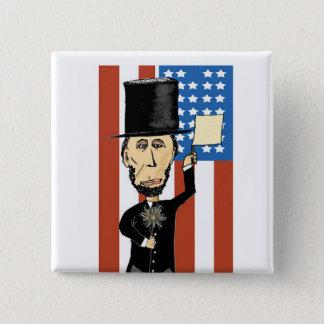 Bóton Quadrado 5.08cm Presidente Lincoln botão do quadrado de 2