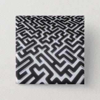 Bóton Quadrado 5.08cm Preto de prata do labirinto