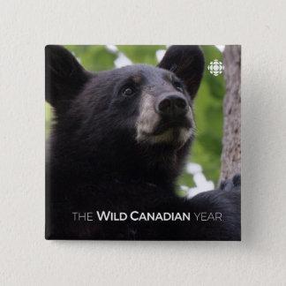 Bóton Quadrado 5.08cm Primavera - urso preto