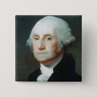 Bóton Quadrado 5.08cm Primeiro presidente: George Washington
