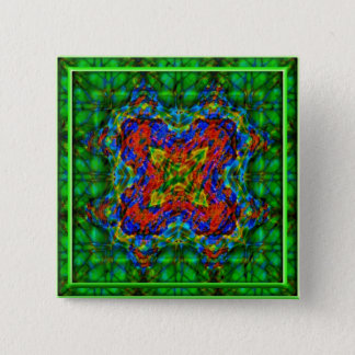 Bóton Quadrado 5.08cm Profundidades esmeraldas