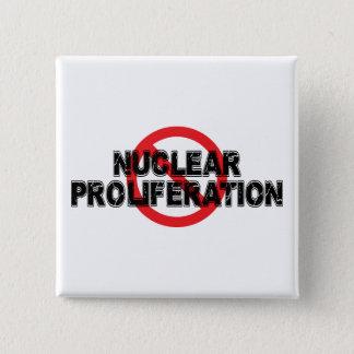 Bóton Quadrado 5.08cm Proliferação nuclear da proibição