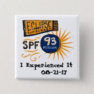 Bóton Quadrado 5.08cm Protecção solar engraçada do eclipse solar