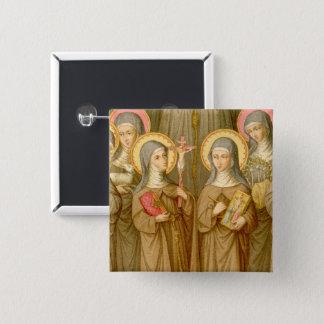 Bóton Quadrado 5.08cm Quadrado pobre de quatro santos de Clare (SAU 027)
