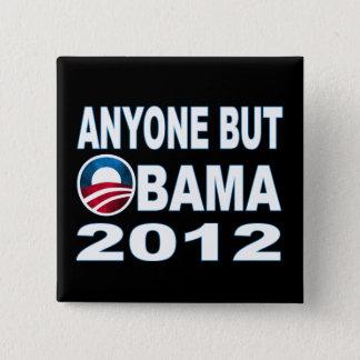 Bóton Quadrado 5.08cm Qualquer um mas Obama 2012