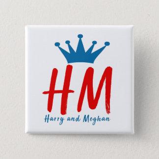 Bóton Quadrado 5.08cm Quando Harry encontrou Meghan