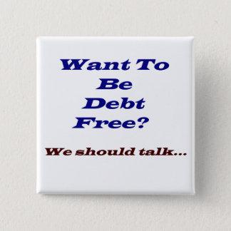 Bóton Quadrado 5.08cm Queira ser débito livre?