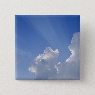 Bóton Quadrado 5.08cm Raios de sol através das nuvens, d'Orcia de Val,