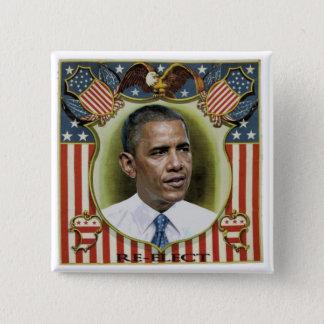 Bóton Quadrado 5.08cm Reelect Obama