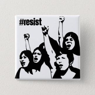 Bóton Quadrado 5.08cm Resista, botão de direitos das mulheres