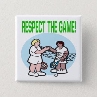 Bóton Quadrado 5.08cm Respeito The Game