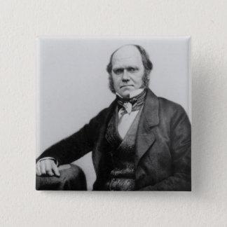 Bóton Quadrado 5.08cm Retrato de Charles Darwin, 1854