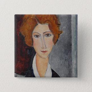 Bóton Quadrado 5.08cm Retrato de Modigliani Amedeo