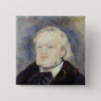 Bóton Quadrado 5.08cm Retrato de Richard Wagner 1882