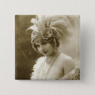 Bóton Quadrado 5.08cm Retrato de um dançarino
