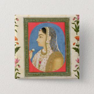 Bóton Quadrado 5.08cm Retrato de uma senhora nobre, do Alb pequeno de