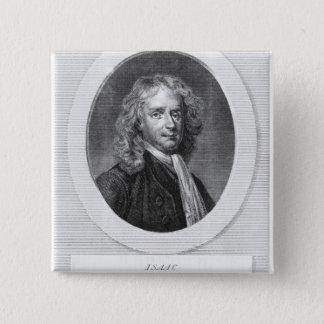 Bóton Quadrado 5.08cm Retrato do senhor Isaac Newton