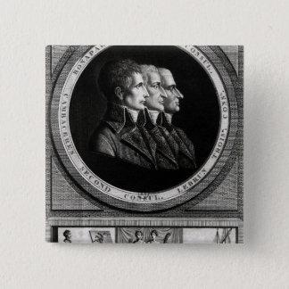 Bóton Quadrado 5.08cm Retrato dos três cônsules da república