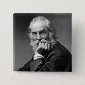 Bóton Quadrado 5.08cm Retrato essencial de Walt Whitman