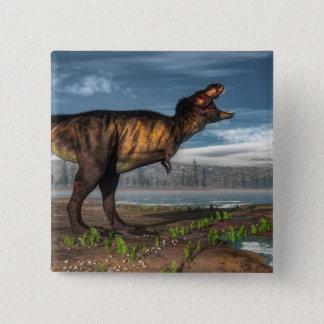 Bóton Quadrado 5.08cm Rex do tiranossauro