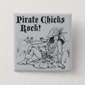 Bóton Quadrado 5.08cm Rocha dos pintinhos do pirata!