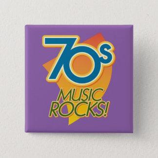Bóton Quadrado 5.08cm rochas da música 70s!