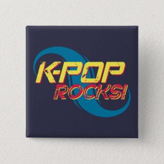 Bóton Quadrado 5.08cm Rochas do K-Pop!  (Luz)