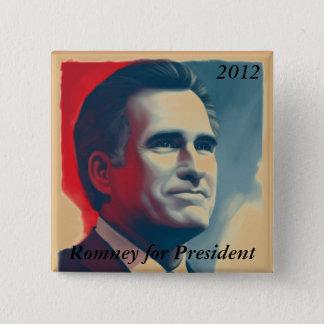Bóton Quadrado 5.08cm Romney para o presidente