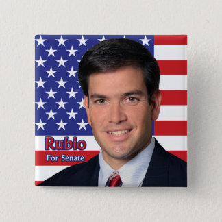 Bóton Quadrado 5.08cm Rubio para o Senado