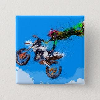 Bóton Quadrado 5.08cm Salto do motocross do cavaleiro da motocicleta