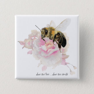 Bóton Quadrado 5.08cm Salvar a abelha! Salvar o mundo! Abelha bonito
