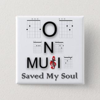 Bóton Quadrado 5.08cm Salvar minha guitarra escura da imagem da alma