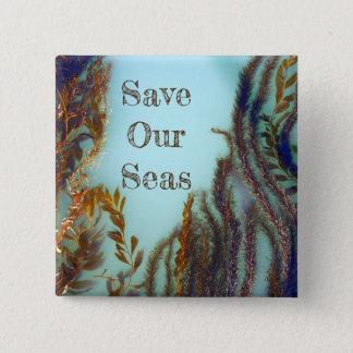 Bóton Quadrado 5.08cm Salvar nossos mares