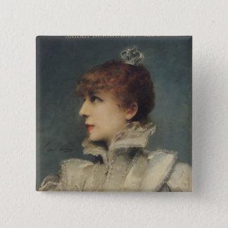 Bóton Quadrado 5.08cm Sarah Bernhardt 1875
