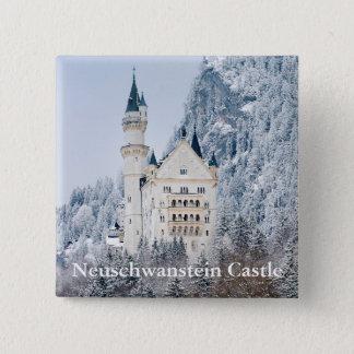 Bóton Quadrado 5.08cm Schloss Neuschwanstein