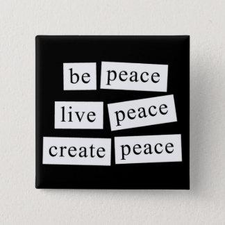 Bóton Quadrado 5.08cm Seja paz