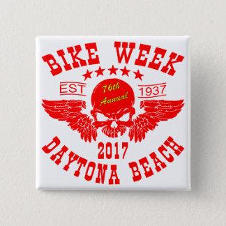 Bóton Quadrado 5.08cm Semana 2017r da bicicleta de Daytona Beach do
