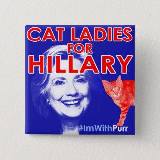 Bóton Quadrado 5.08cm Senhora Orgulho Botão do gato de ImWithPurr