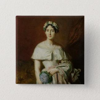 Bóton Quadrado 5.08cm Senhorita Marie-Therese de Cabarrus, 1848