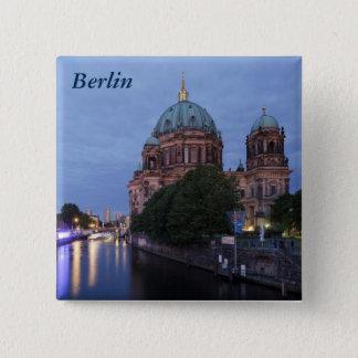 Bóton Quadrado 5.08cm Série e catedral do rio em Berlim, Alemanha