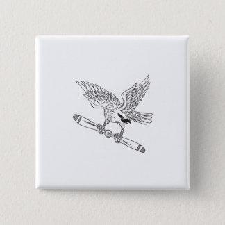 Bóton Quadrado 5.08cm Shrike que embreia a lâmina de hélice D preto e