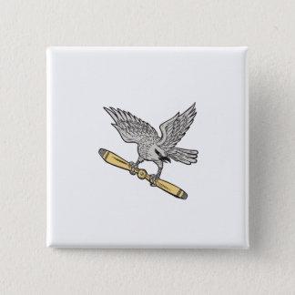 Bóton Quadrado 5.08cm Shrike que embreia a lâmina de hélice retro