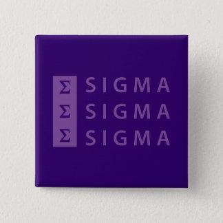 Bóton Quadrado 5.08cm Sigma do Sigma do Sigma empilhado
