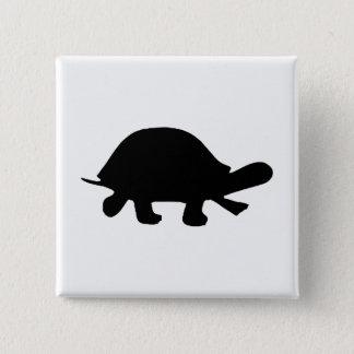 Bóton Quadrado 5.08cm Silhueta da tartaruga