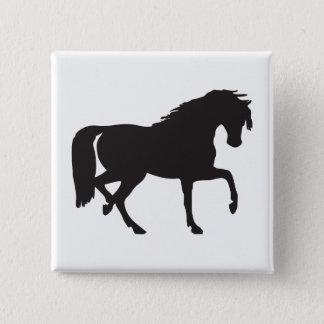 Bóton Quadrado 5.08cm Silhueta do cavalo