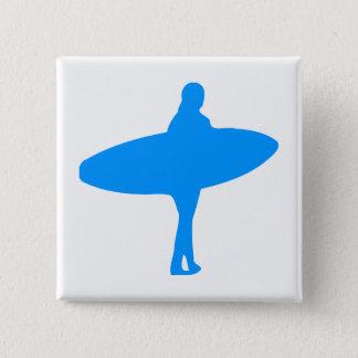 Bóton Quadrado 5.08cm Silhueta do surf