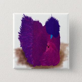 Bóton Quadrado 5.08cm Silkie cor-de-rosa
